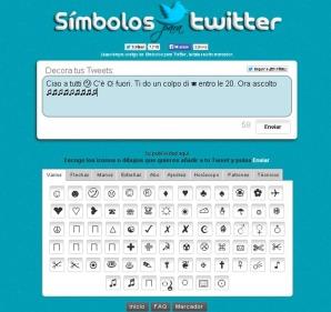 Inserire Simboli Speciali nei Tweet con Symbolos para Twitter