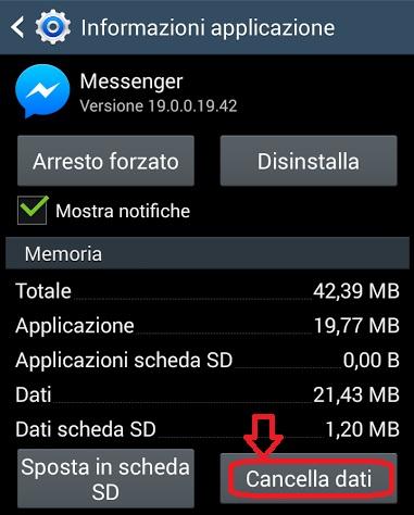 cancella-dati-messenger