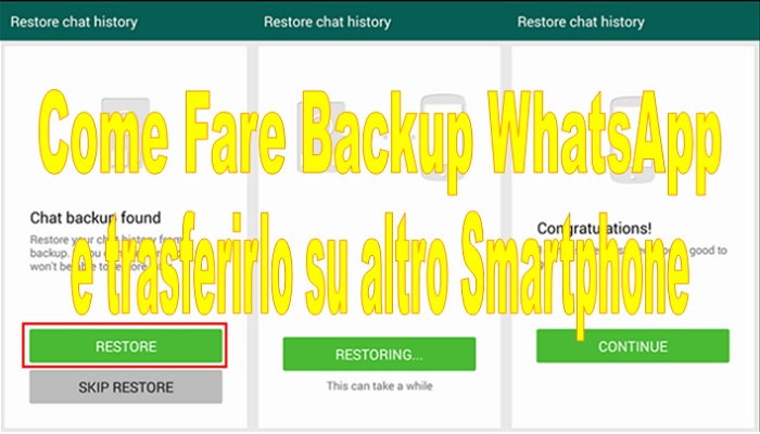 come fare backup whatsapp