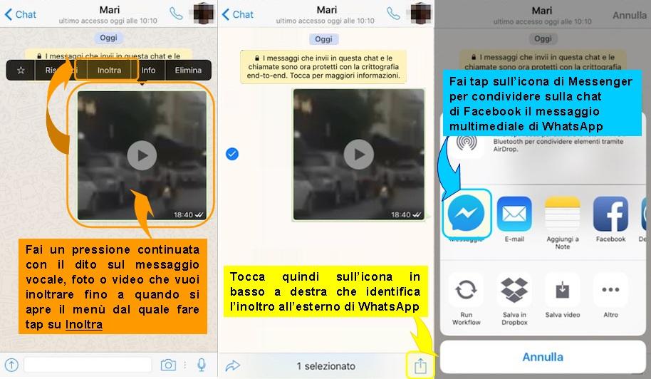 inoltrare-iphone-messaggi-vocali-foto-video-whatsapp-su-messenger