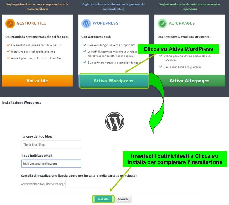 installa-wordpress-altervista