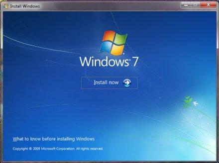 installare windows 7