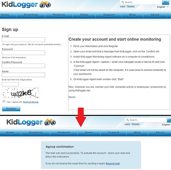 kidlogger-crea-account