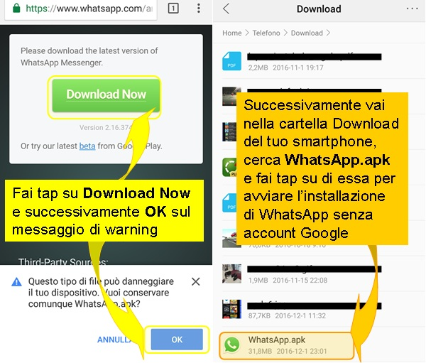 whatsapp-android-senza-play-store-google